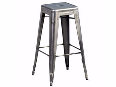 Stackable metal stool with footrest TOLIX | STOOL H