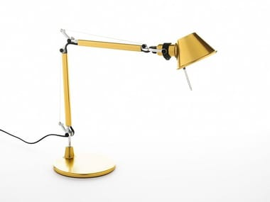 Direct light aluminium desk lamp TOLOMEO MICRO GOLD | Table lamp