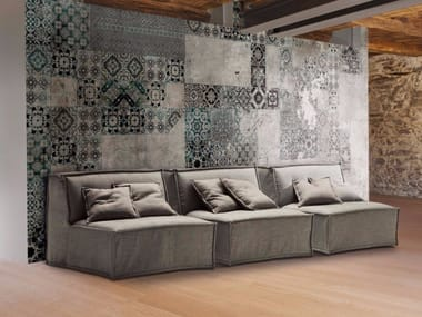 Upholstered modular fabric sofa bed TOMMY | Sofa bed