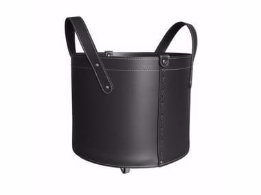 Bonded leather storage box TONDA