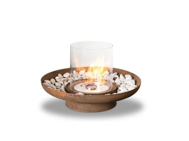 Outdoor freestanding bioethanol fireplace TONDO COMMERCE