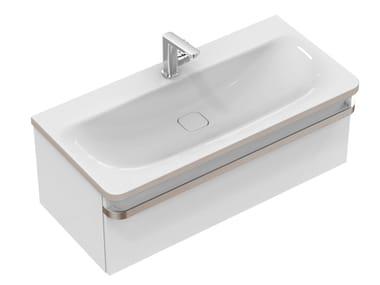 Single wall-mounted vanity unit with drawers TONIC II 100 cm - R4304