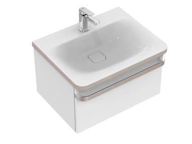Single wall-mounted vanity unit with drawers TONIC II 60 cm - R4302
