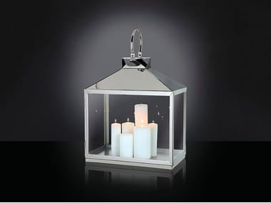Glass and steel lantern TOP PYRAMID-SHAPED