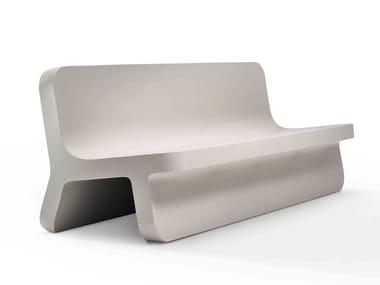 Panca in Cimento® con schienale TORCELLO | Panca