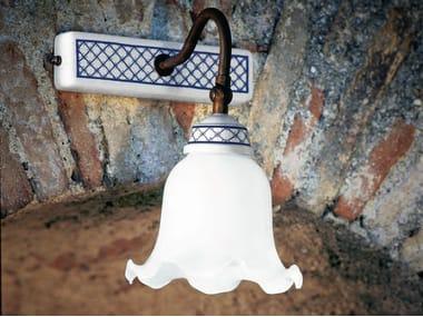 Lampada da parete in ceramica con braccio fisso BARACCA   Lampada da parete