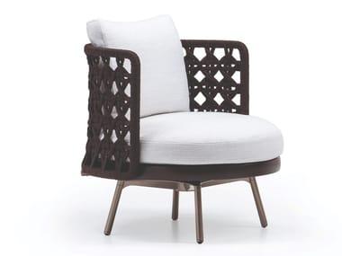 Outdoor armchair with stringed backrest TORII NEST OUTDOOR | Armchair