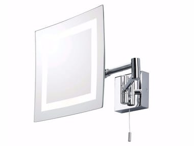 Wall-mounted shaving mirror with integrated lighting TORINO