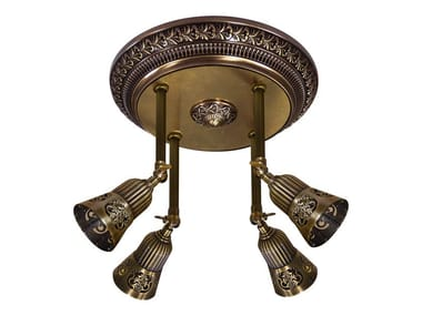 Adjustable brass ceiling lamp BILBAO II | Ceiling lamp