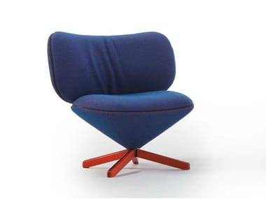 Fabric easy chair with 4-spoke base MINI TORTUGA | Fabric easy chair