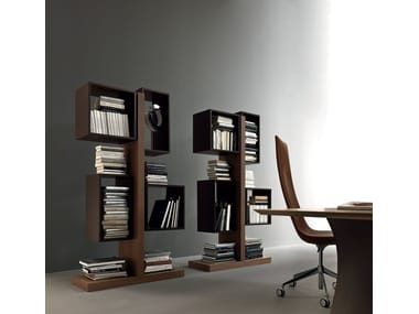 Open tall wooden office shelving TOTEM | Wooden office shelving