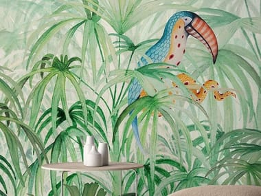 Tropical wallpaper, PVC free, eco, washable TOUKE-TOUKE JUNGLE