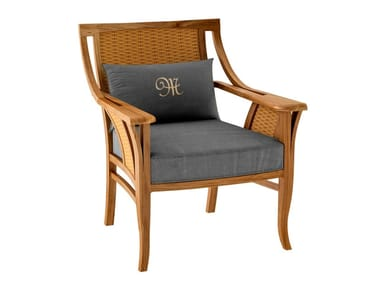 Deco club teak garden armchair TOURNESOL | Garden armchair