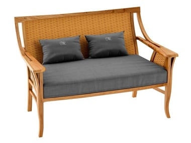 Deco teak sofa TOURNESOL | Sofa