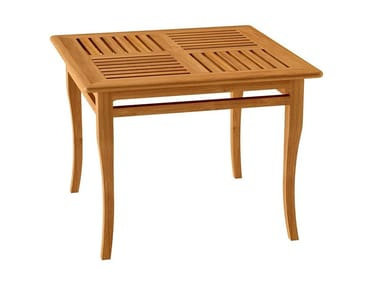 Deco square teak garden table TOURNESOL | Square table
