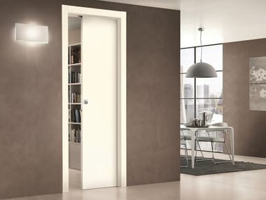Lacquered honeycomb sliding door TRÉSOR | Sliding door
