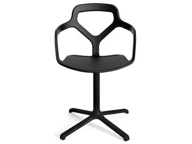 Swivel technopolymer chair with 4-spoke base TRACE | Swivel chair