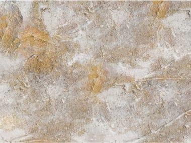 Papel de parede ecológico lavável livre de PVC estilo industrial TRACES OF GOLD 1