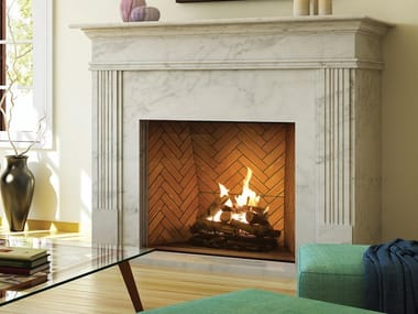 Gas closed fireplace with remote control TRADITIONAL 90