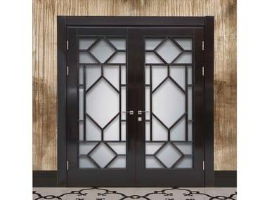 Wood and glass door TRAFALGAR