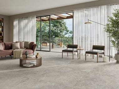 Pavimento/rivestimento in gres porcellanato effetto pietra TRAGITTI
