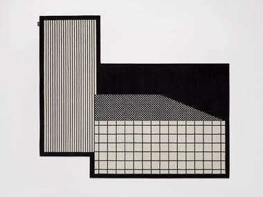 Tappeto in velluto a motivi geometrici TRAMATO TR653