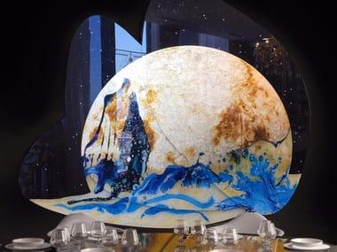 Decorated glass Decorative panel TRAMONTO LUNARE