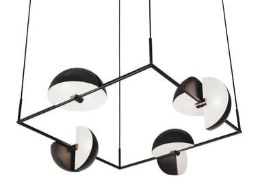 Swivel steel pendant lamp TRAPEZE QUARTETTE