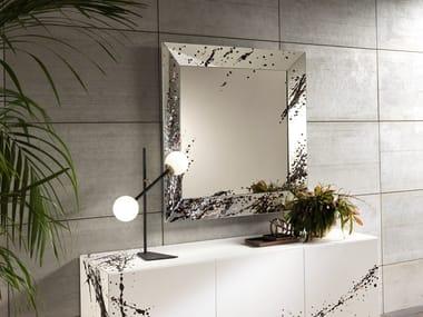 Framed mirror TRAPEZIO ART