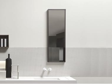 Rectangular wall-mounted bathroom mirror TRATTEGGIO
