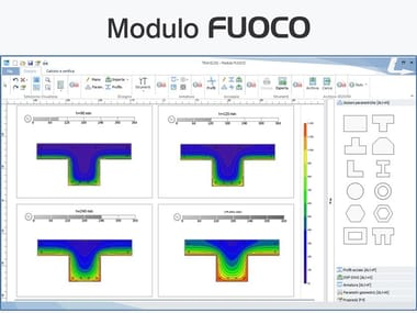 Calculation of fire resistance of structural element TRAVILOG - Modulo FUOCO