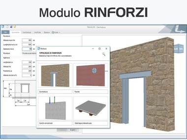 Project and verification of restructuring operations TRAVILOG - Modulo RINFORZI