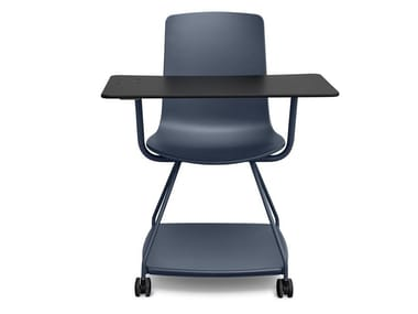 Polypropylene training chair with storage space TRAY