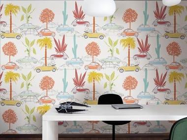 Papel de parede ecológico de tecido não tecido TREE MACHINE