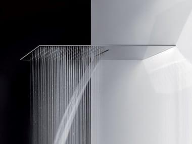 Tête de douche cascade extraplat en acier TREMILLIMETRI | Tête de douche cascade