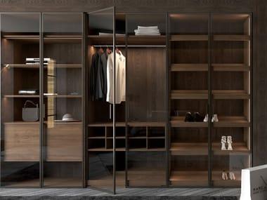 Custom wood and glass wardrobe TREND