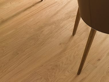 Floating brushed wooden parquet TRENTO