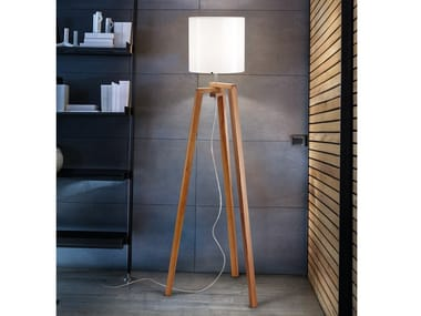 Glass floor lamp TREPAI PT