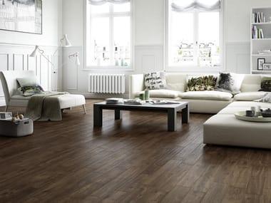 Pavimento in gres porcellanato effetto legno per interni ed esterni TREVERKWAY | Quercia