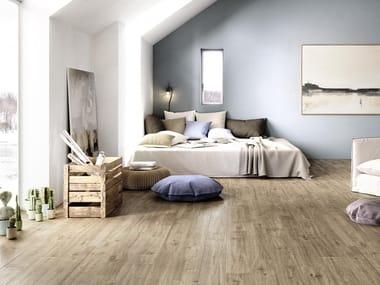 Pavimento in gres porcellanato effetto legno per interni ed esterni TREVERKWAY | Rovere