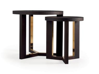 Wood veneer side table TRI | Side table