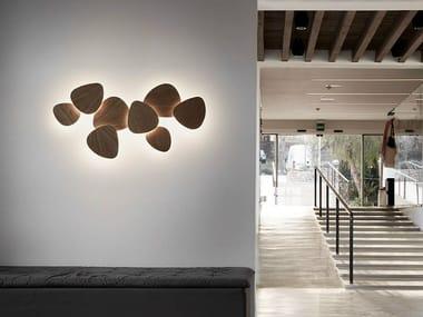 LED beech wall light TRIA SET 8