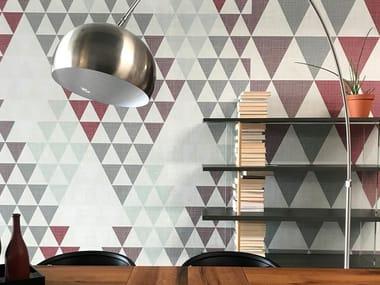 Papel de parede geométrico gomado a impressão digital TRIA DIAMOND