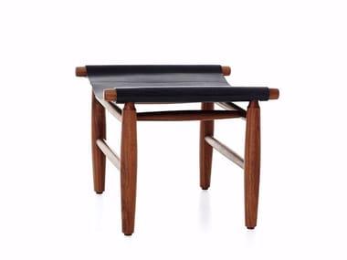 Leather stool TRIANGLE OTTOMAN