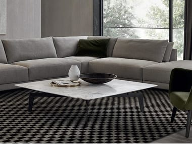 Tavolino quadrato in marmo TRIBECA | Tavolino quadrato