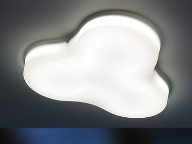 LED methacrylate ceiling lamp with dimmer TRIFOGLIO | Ceiling lamp