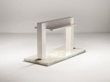 Lampada da tavolo a LED in marmo e legno TRILITE