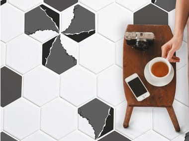 Porcelain stoneware wall/floor tiles TRILOGY HEXAGON