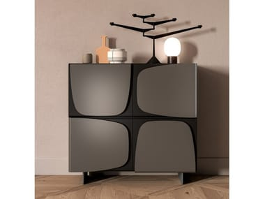 Lacquered highboard with doors TRILOGY   Highboard