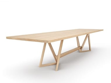 Solid wood table / meeting table TRIMUS